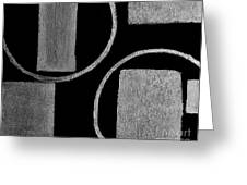 Modern Shapes Silver Greeting Card