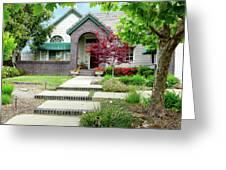 Modern Suburban House Hayward California 33 Greeting Card