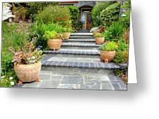 Modern Suburban House With Succulent Garden Hayward California 34 Greeting Card