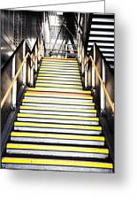 Modern Subway Steps In London Canary Wharf District Greeting Card