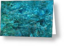 Modern Turquoise Art - Deep Mystery - Sharon Cummings Greeting Card