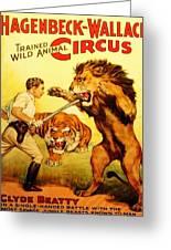 Modern Vintage Circus Poster Greeting Card