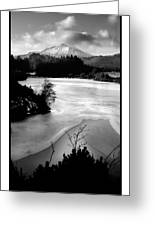 Moel Siabod Viewed From Llyn Glangors Lake Snowdonia Greeting Card