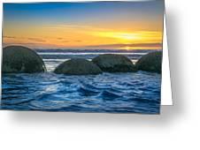 Moeraki Sunrise Greeting Card