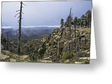 Mogollon Rim Under The Clouds Greeting Card