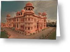 Mohatta Palace At Sunset Greeting Card