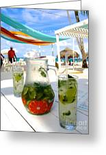 Mojitos On The Beach- Punta Cana Greeting Card