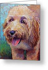Mojo The Shaggy Dog Greeting Card