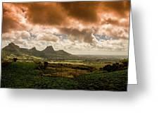 Moka Mountains Greeting Card
