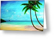 Mokolii Chinamans Hat From Waiahole Beach Park #280 Greeting Card