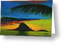 Mokolii Sunset #80  Greeting Card