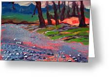 Molalla River Shore 7 Greeting Card