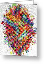 Molecular Floral Abstract Greeting Card