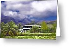 Moloa A Bay Hideaway Greeting Card