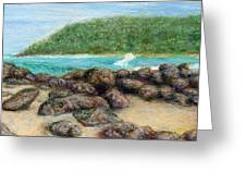 Moloa'a Rocks Greeting Card