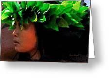 Molokai Wahine Dancer Greeting Card