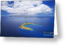 Molokini Aerial Greeting Card