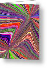 Molten Rainbow Redux Greeting Card