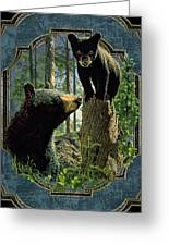 Mom And Cub Bear Greeting Card