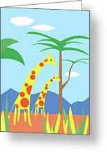 Mom And Me Giraffes Greeting Card