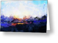 Moment In Blue Spaces Greeting Card