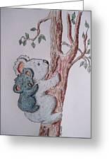Momma And Baby Koala Greeting Card
