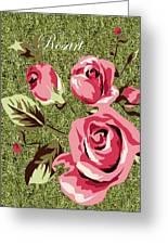 Mom's Day Elegance Vintage Rose Greeting Card