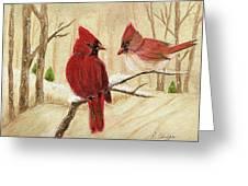 Mom's Favorite Redbirds Greeting Card