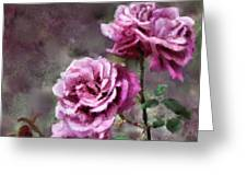 Moms Roses Greeting Card