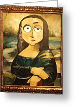 Mona In A Guilded Frame Greeting Card