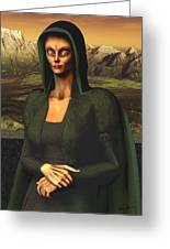 Mona Lisa Aien Greeting Card