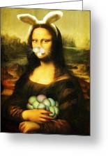 Mona Lisa Bunny Greeting Card
