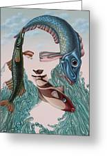 Mona Lisa. Water Greeting Card