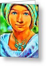 Mona Lisa Young - Pa Greeting Card