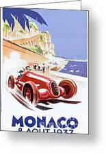 Monaco Grand Prix 1937 Greeting Card