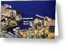 Monaco On The Mediterranean Greeting Card
