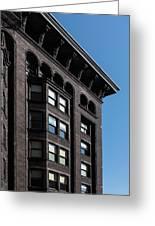 Monadnock Building Cornice Chicago Greeting Card