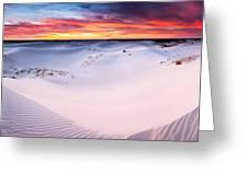 Monahans Sunset Monahans Sandhills State Park Texas Greeting Card