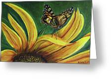 Monarch Butterfly On A Sunflower Greeting Card