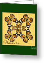 Monarch Butterfly Pin Wheel Greeting Card