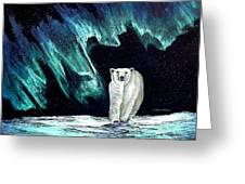 Monarch Of His Arctic Domain Greeting Card by Dianne Roberson