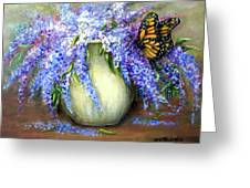 Monarch Of The Lilacs Greeting Card