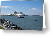 Monarch Of The Seas At Port Canaveral In Florida Greeting Card