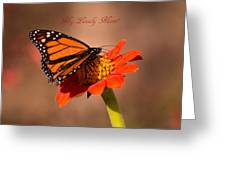 Monarch On Tithonia Mother's Day Gifts Greeting Card