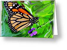 Monarch Swirl 1 Greeting Card