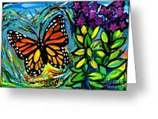 Monarch With Milkweed Greeting Card