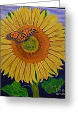 Monarch's Sunflower Greeting Card