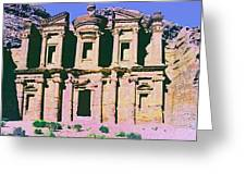 Monastery At Petra Greeting Card by Dominic Piperata