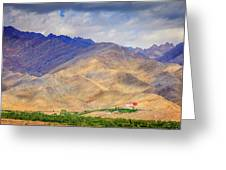 Monastery In The Mountains Greeting Card