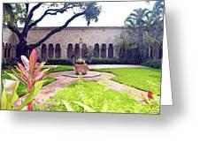 Monastery Of St. Bernard De Clairvaux Garden Greeting Card